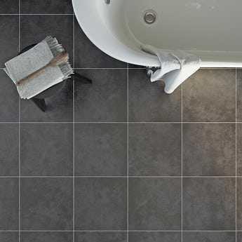 Canvas charcoal grey matt tile 331mm x 331mm
