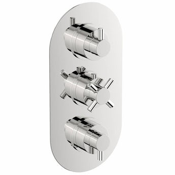 Mode Alexa oval triple thermostatic shower valve with diverter
