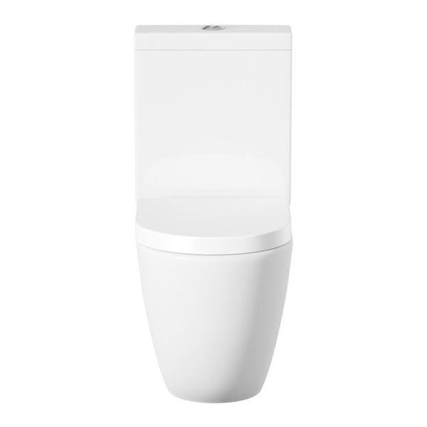 ModeHarrisonrimless cloakroom suite with full pedestal basin 555mm with tap and waste