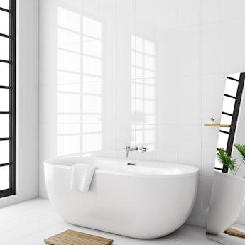Laura Ashley white gloss wall tile 248mm x 498mm