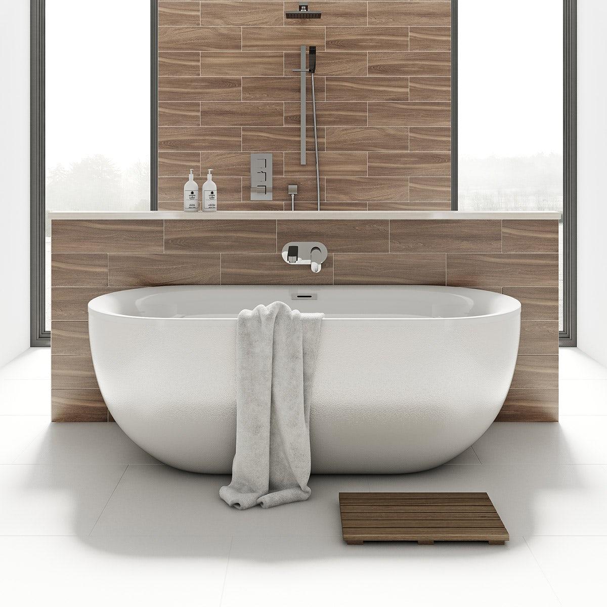 Mode ellis pearl coloured freestanding bath for Coloured free standing bath