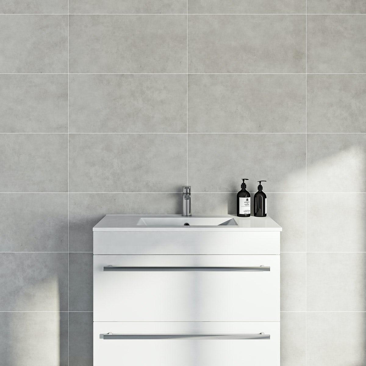 Canvas clay matt tile 298mm x 598mm