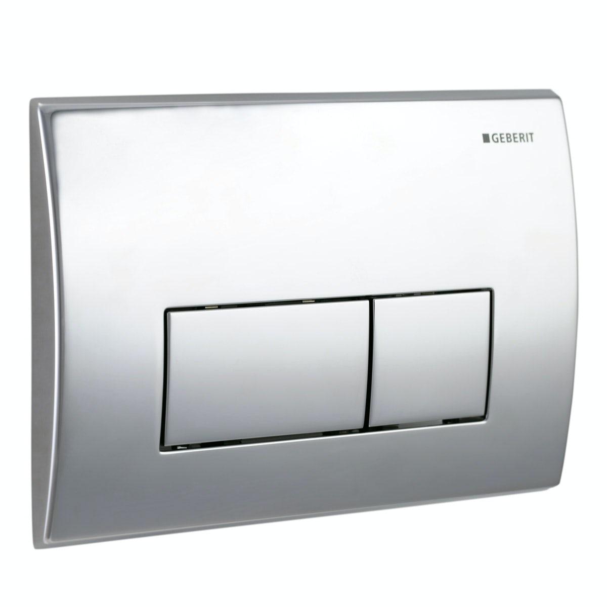 Geberit Kappa50 dual flush plate gloss chrome