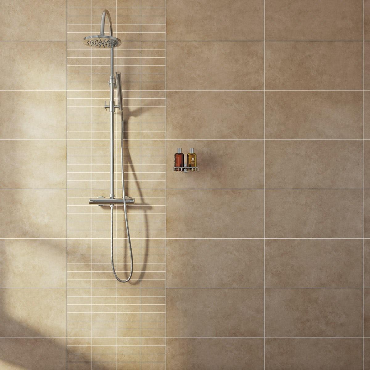 British Ceramic Tile Canvas line toffee matt tile 298mm x 598mm