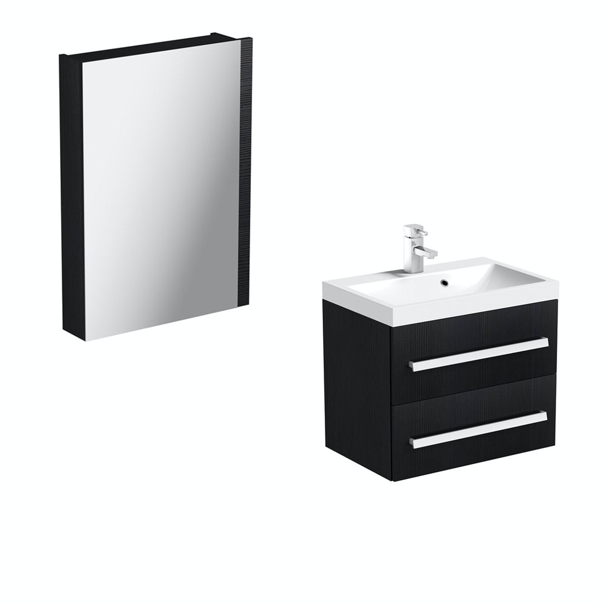 Arden Essen Wall Hung Vanity Unit With Basin & Mirror - 600mm