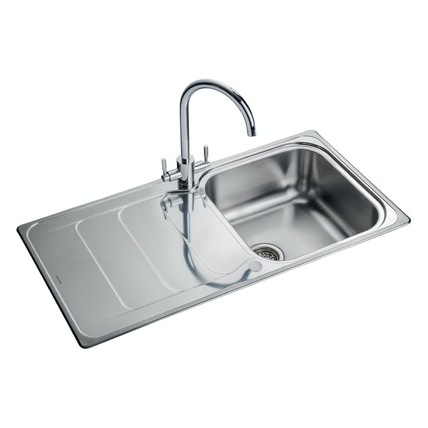Rangemaster Houston 1 bowl reversible kitchen sink with waste kit