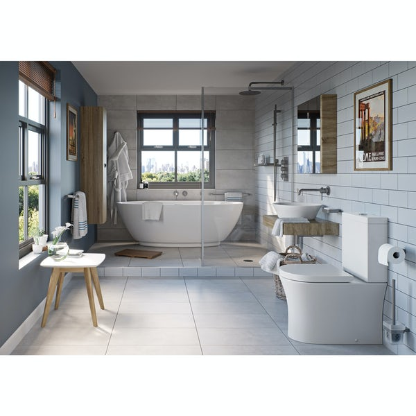 Mode Spencer click clack slotted brushed nickel basin waste