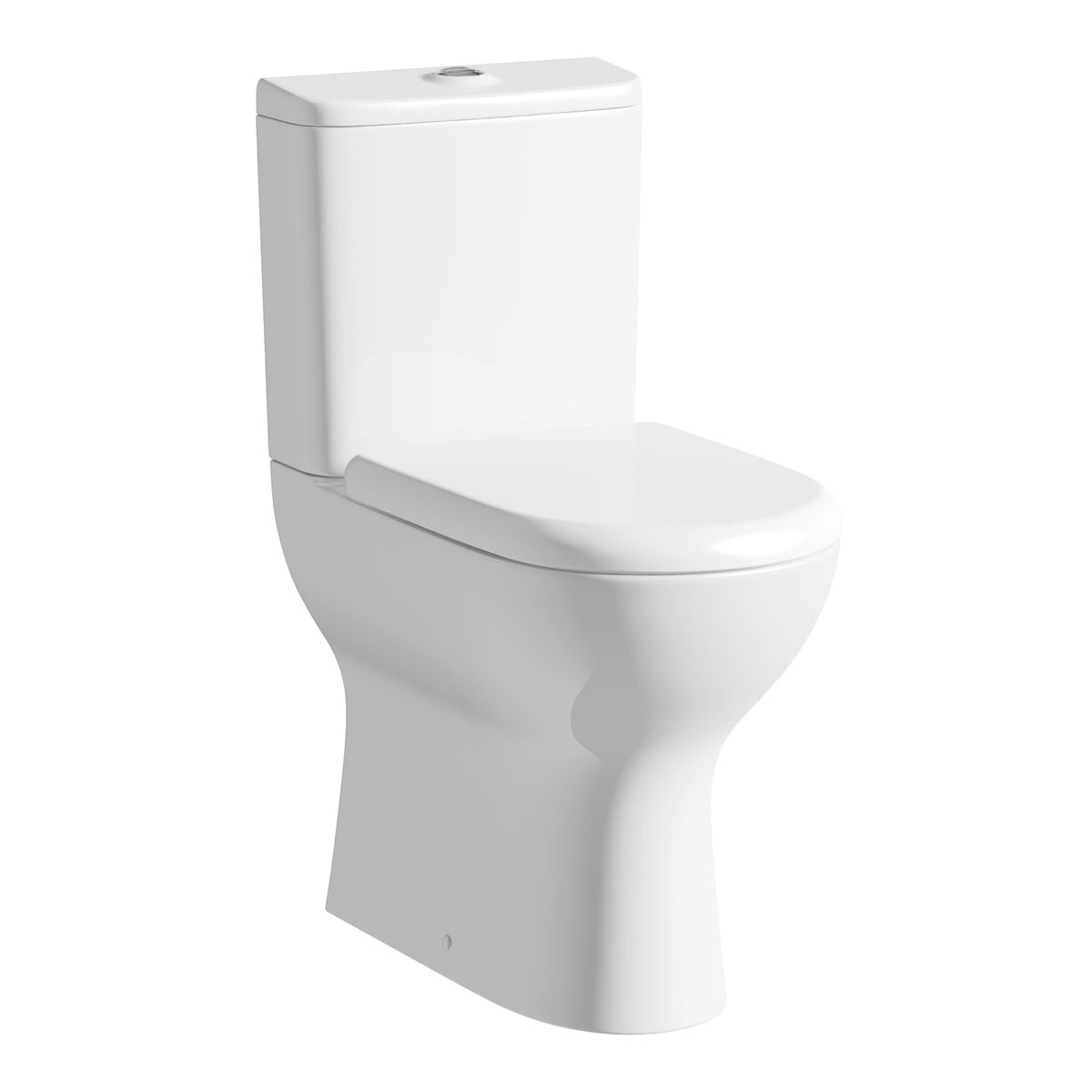 Fairbanks Raised Height Close Coupled Toilet inc. Luxury Soft Close Seat