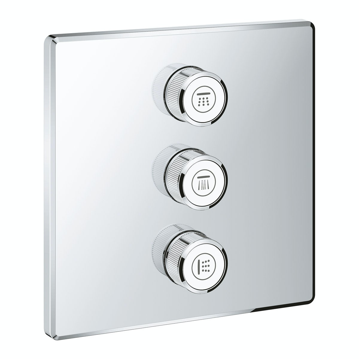 Grohe Grohtherm SmartControl square triple volume control shower valve trimset