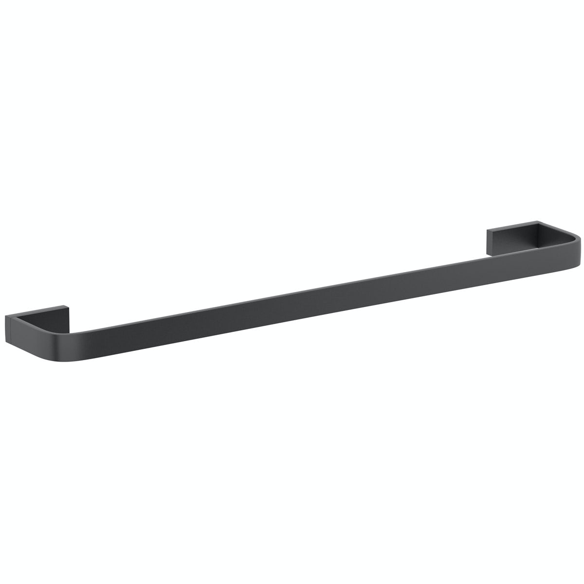 Mode Spencer black square single towel rail 600mm