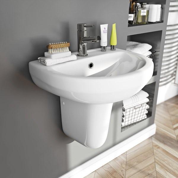 Oakley 550 1TH Basin & Semi Pedestal