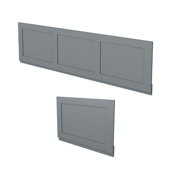 The Bath Co. Camberley grey wooden bath panel pack
