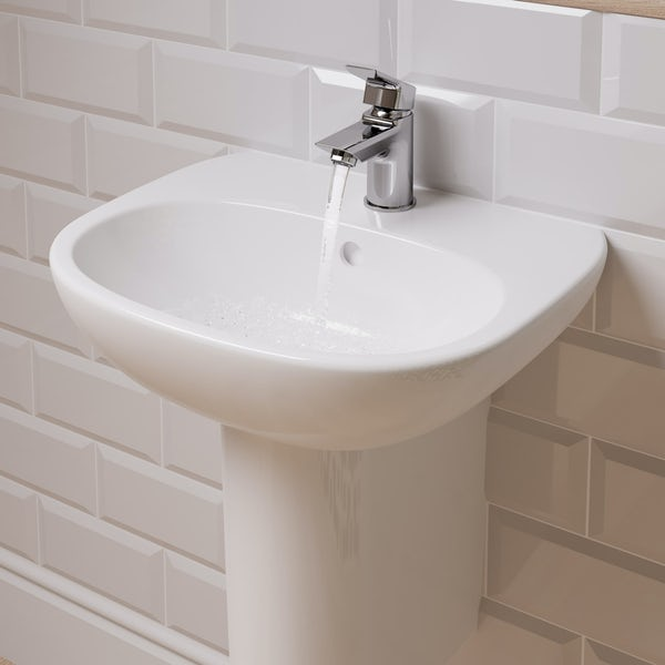 Ideal Standard Tesi 1 tap hole semi pedestal basin 550mm