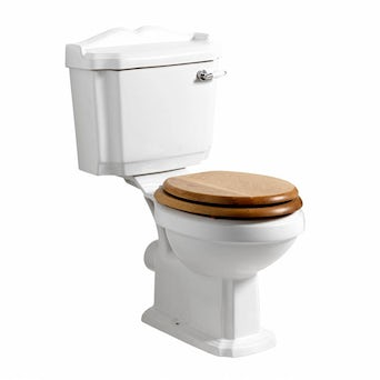 Winchester Close Coupled Toilet inc Oak Seat Special Offer