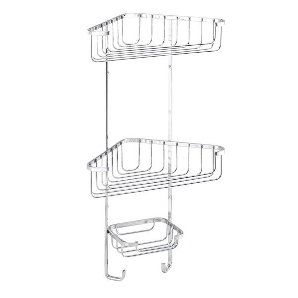 Croydex Rust free three tier corner basket