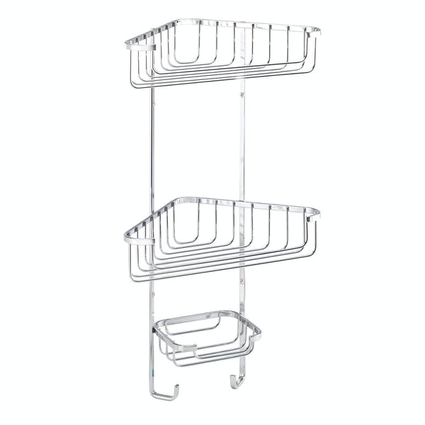 Croydex Rust free three tier corner basket