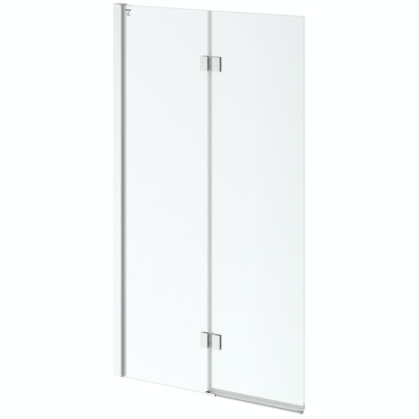 8mm square double panel hinged bath screen