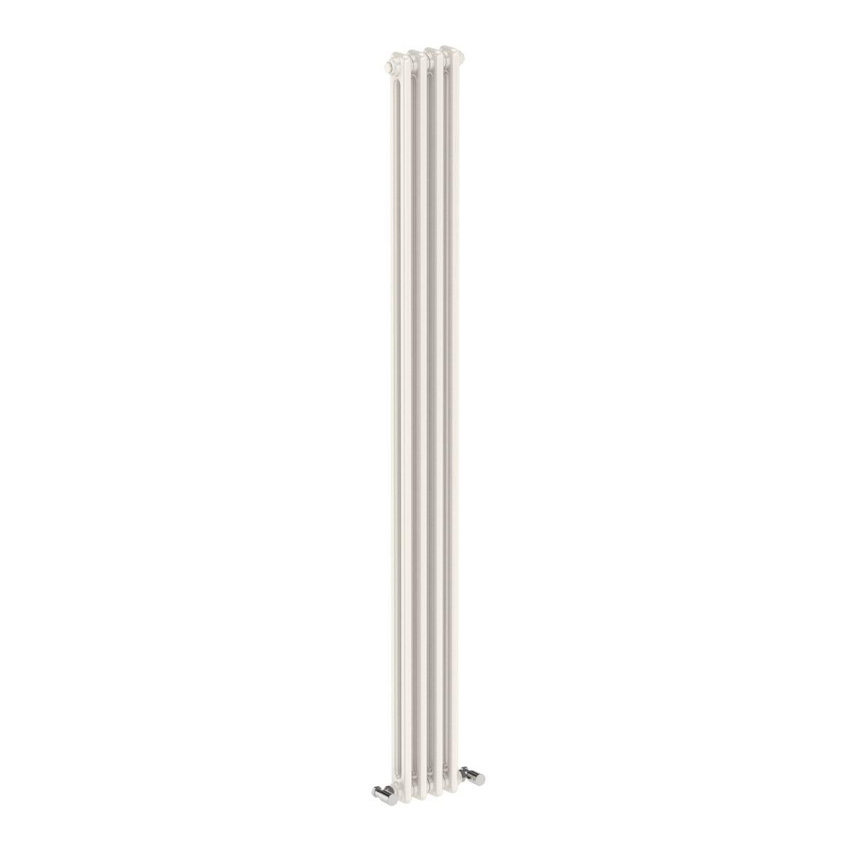 Dulwich vertical white double column radiator 1800 x 198