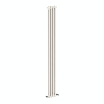 The Bath Co. Dulwich vertical white double column radiator 1800 x 200 offer pack