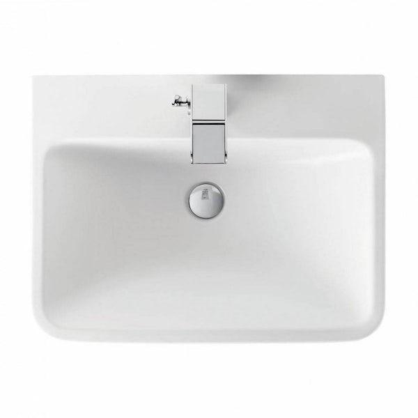 Mode Ellis essen wall hung vanity drawer unit and basin 600mm