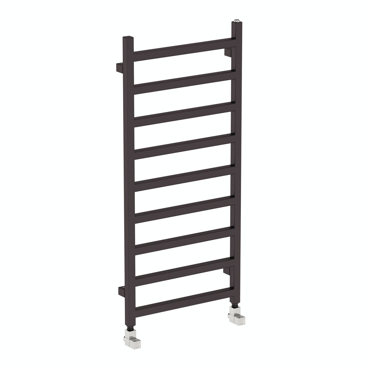 Terma Simple meteor black heated towel rail 1080 x 500
