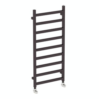 Simple meteor black heated towel rail 1080 x 500