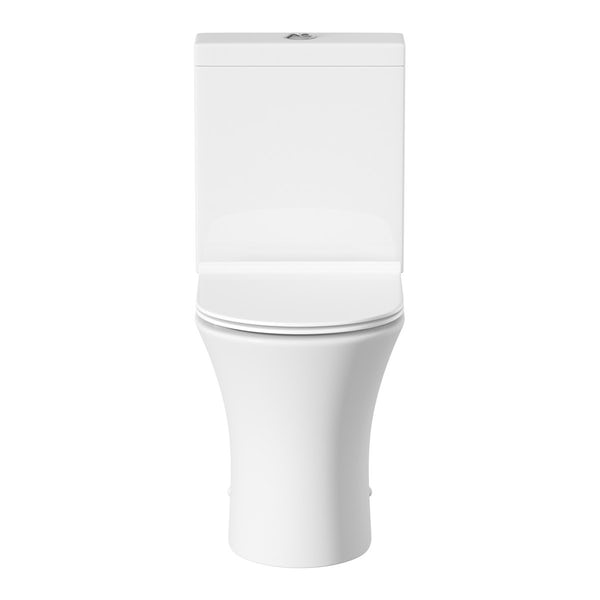 Mode Hardy slimline close coupled toilet and full pedestal basin suite