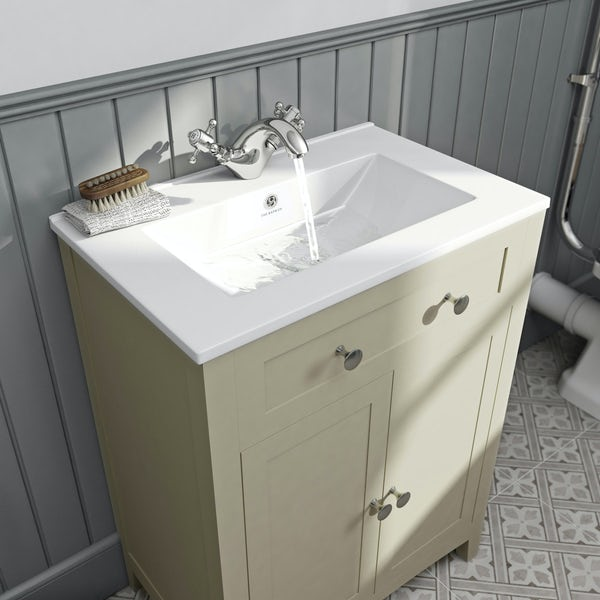 The Bath Co. Camberley satin ivory vanity unit with basin 600mm