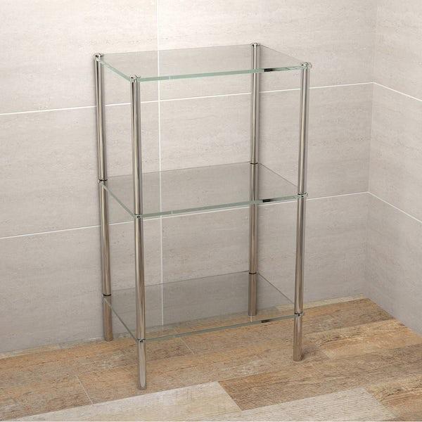 Options Freestanding Square 3 Glass Shelf Unit