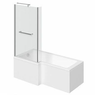 Boston Shower Bath 1500 x 850 LH inc. Screen & Towel Rail