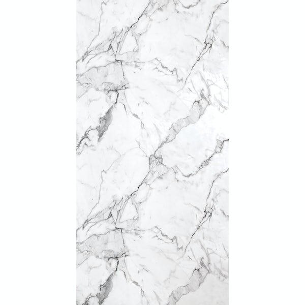 Multipanel Linda Barker Calcatta Marble Hydrolock shower wall panel