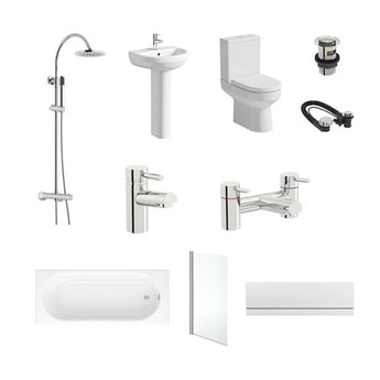 Oakley straight bath complete bathroom package