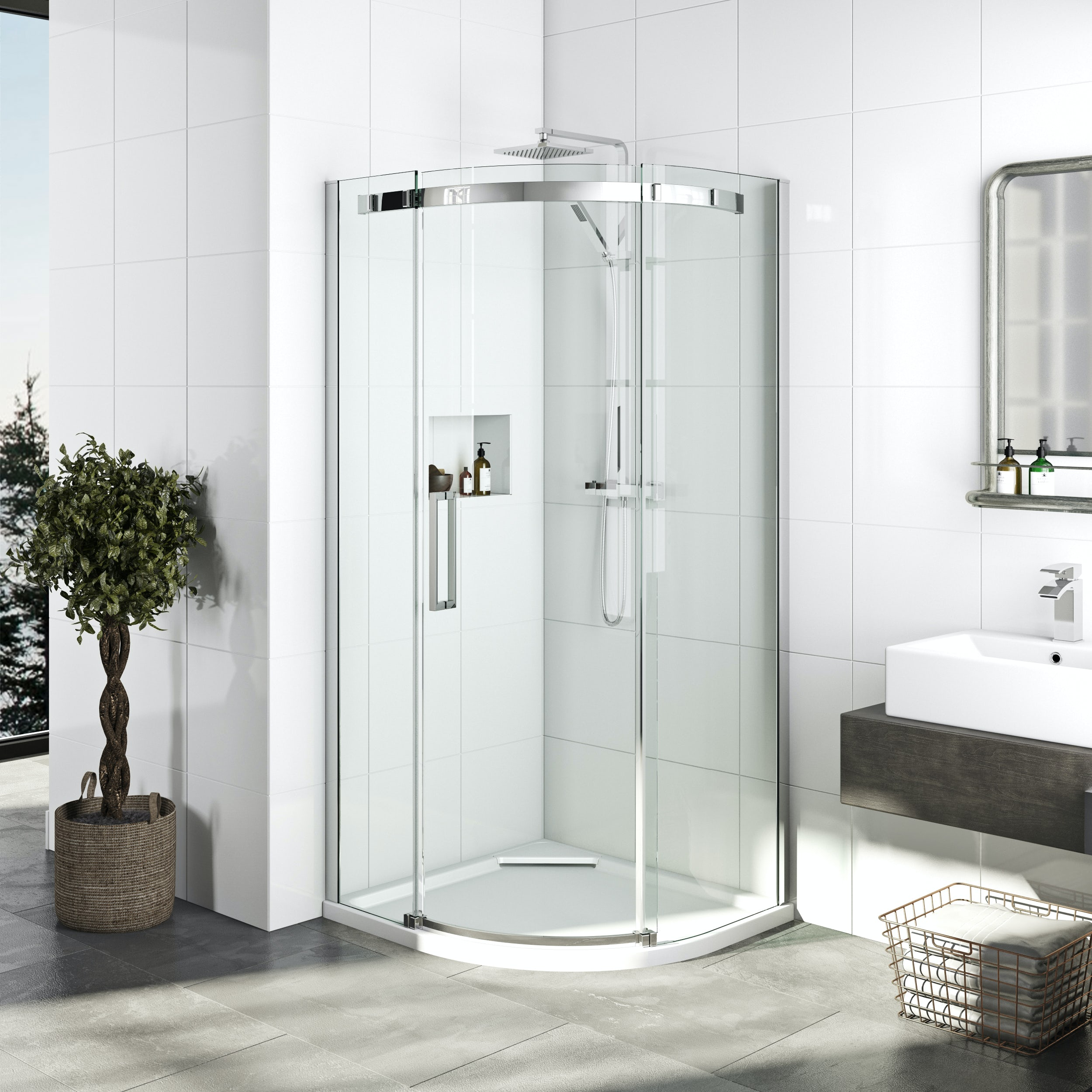 Best Quadrant Shower Enclosure Part - 42: Priced To Clear Elite 10mm Single Sliding Door Quadrant Shower Enclosure  900 X 900