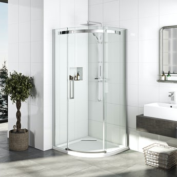 Mode Elite 10mm frameless quadrant shower enclosure 900 x 900