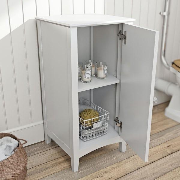 The Bath Co. Camberley white storage unit