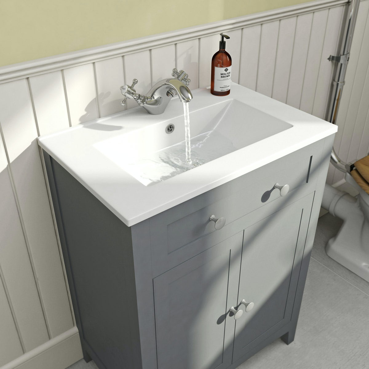 The Bath Co  Camberley satin grey vanity unit with basin 600mmBath Co  Camberley satin grey vanity unit with basin 600mm. Vanity Sink Units For Bathrooms. Home Design Ideas