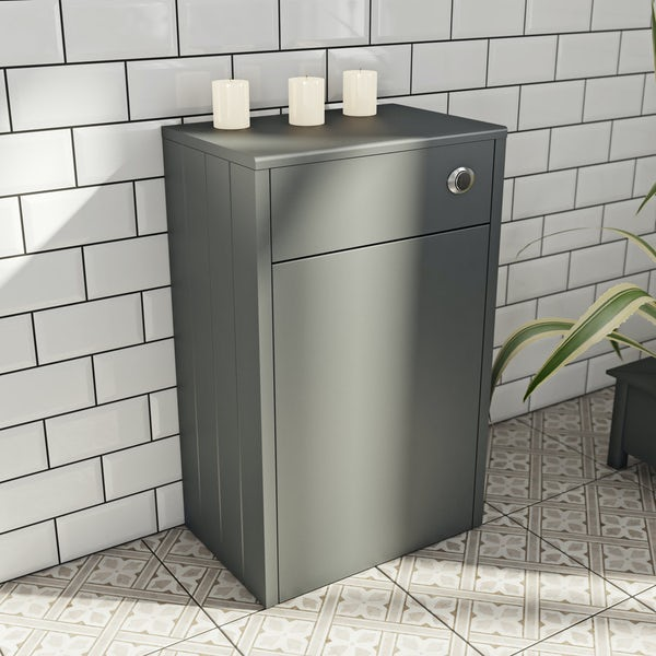 The Bath Co. Dulwich stone grey back to wall toilet unit