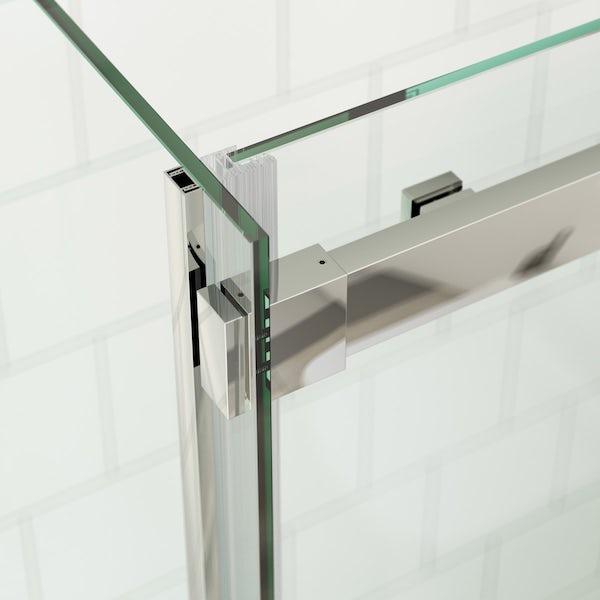 Mode Harrison 8mm easy clean sliding shower enclosure offer pack