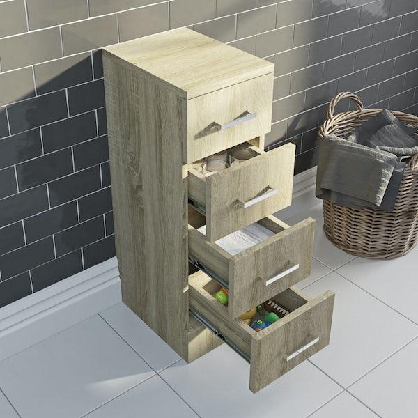 Eden oak multi drawer unit 330mm