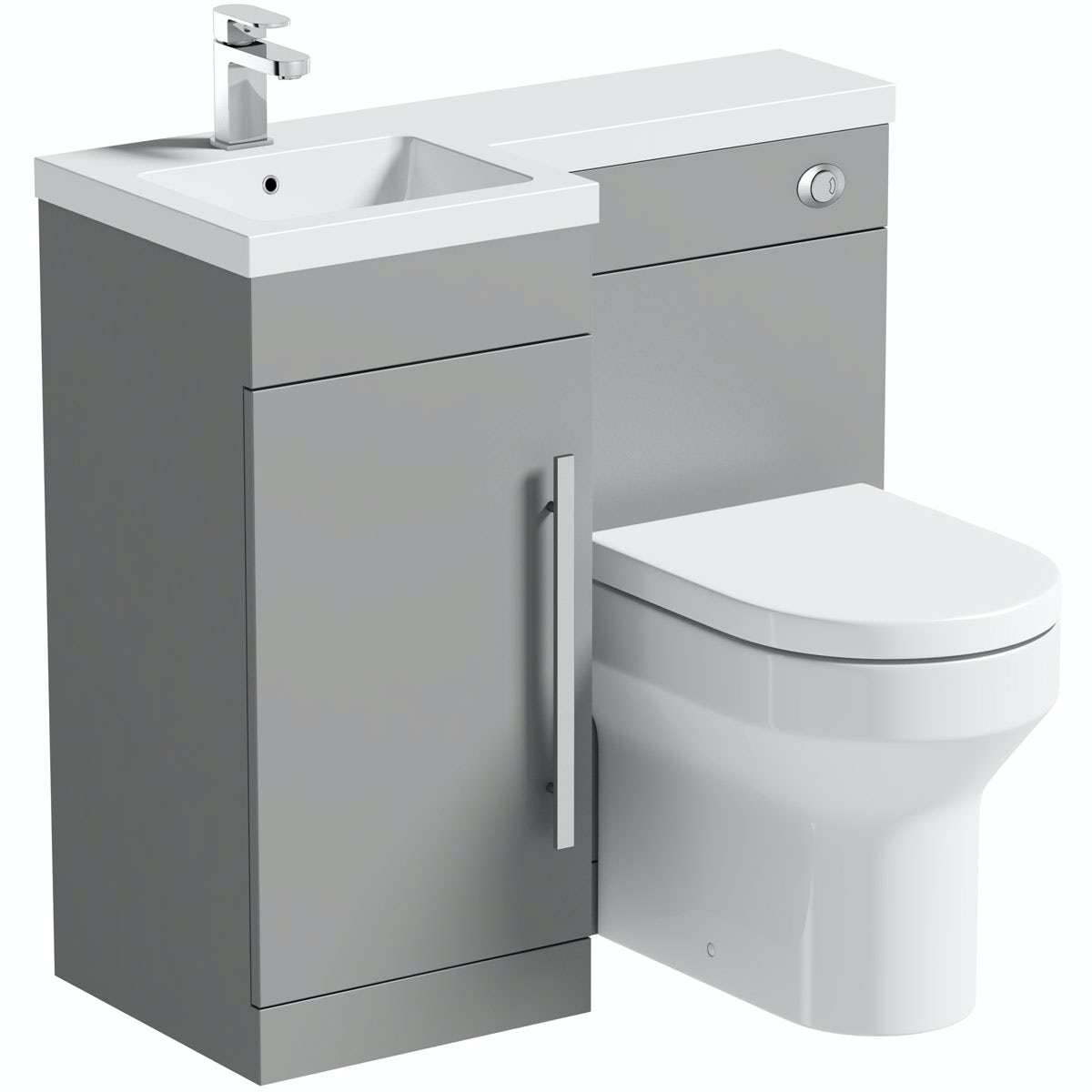 Orchard MySpace grey left handed combination unit with Wharfe toilet