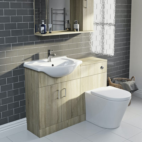 Eden oak 1140 combination with Mode Arte back to wall toilet