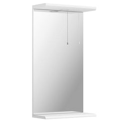 Sienna white bathroom mirror with lights 410mm