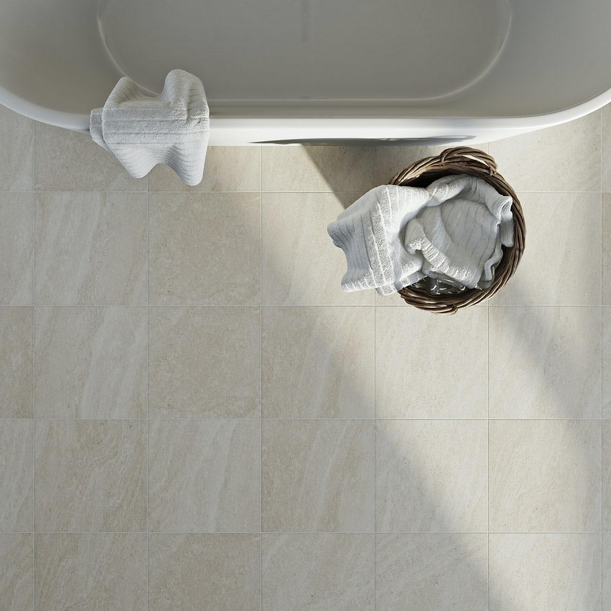 British Ceramic Tile Pumice beige light matt tile 331mm x 331mm