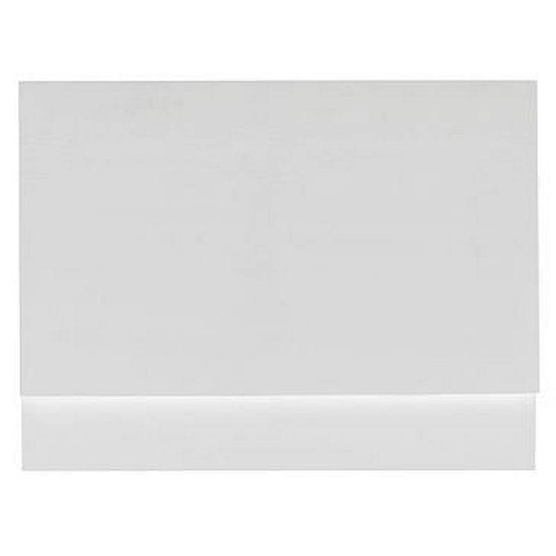 Orchard White wooden straight bath end panel 800mm