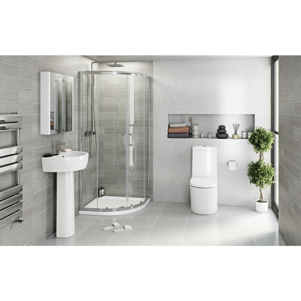 Mode Tate quadrant complete bathroom package