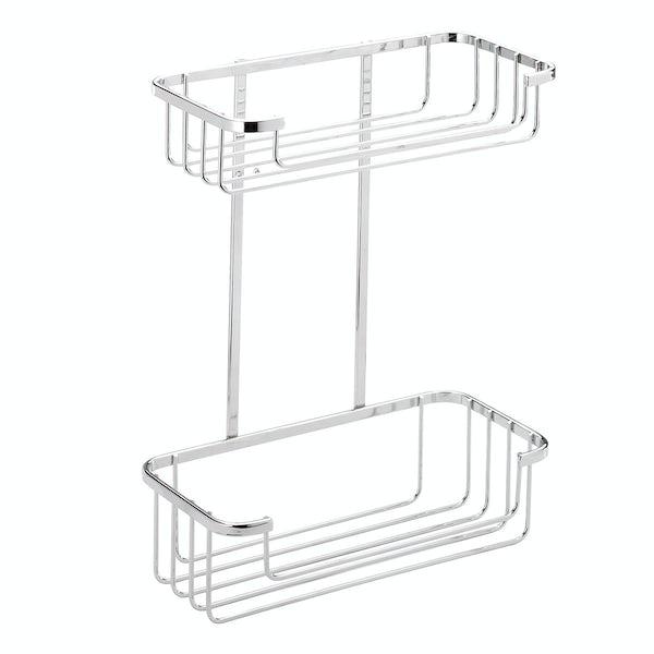Croydex Rust free two tier cosmetic basket