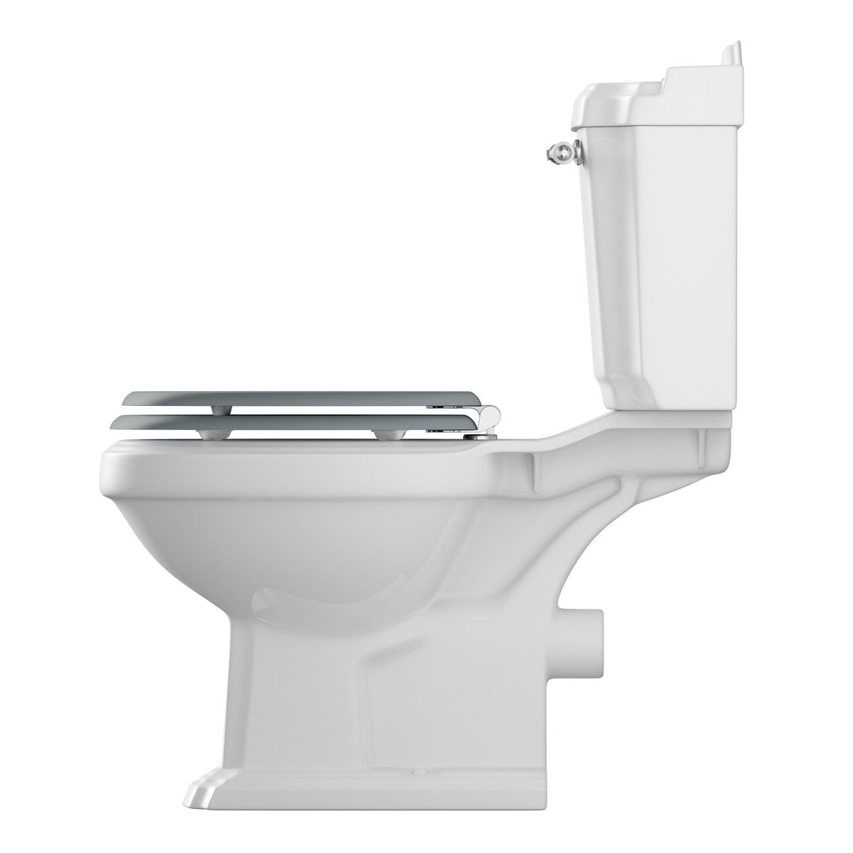 grey soft close toilet seat. Winchester close coupled toilet inc grey soft seat