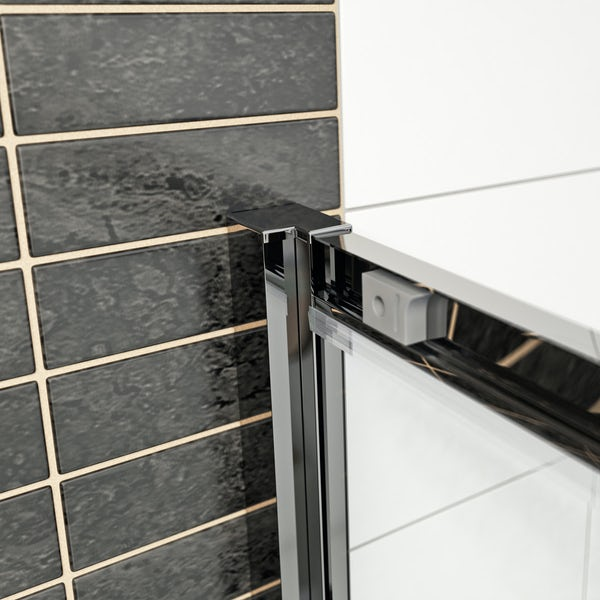 Mode Hardy 8mm easy clean shower enclosure and stone shower tray