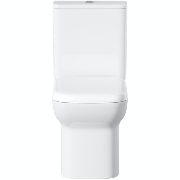 Orchard Lune close coupled toilet with soft close seat