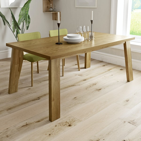 Lincoln Oak Chunky Dining Table